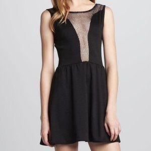 For Love & Lemons lulu mesh skater dress